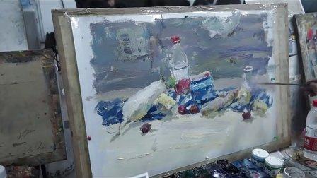 朱传奇画室 131204张德静色彩静物(蔬菜、牛奶盒、矿泉水瓶)