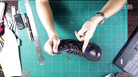 张师傅鞋样设计马丁军靴 长鞋舌插翅精确翻版一
