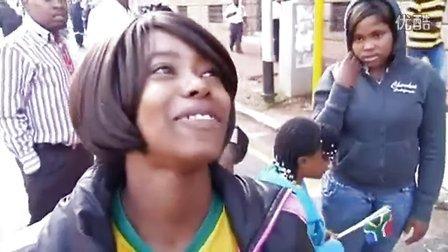 南非民众街头送别曼德拉