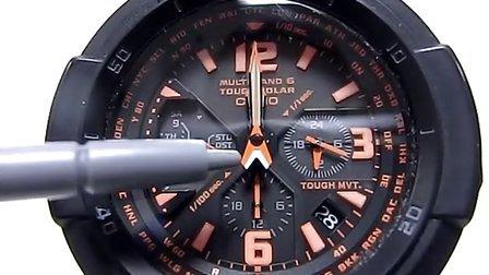 CASIO手表GW-3000(5121)基准位置调整