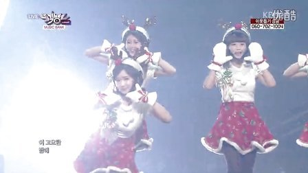 【OC】131213.KBS.音乐银行.Crayon Pop - Lonely Christmas