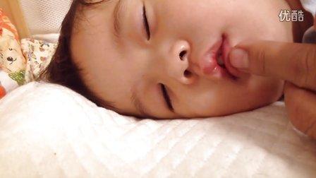 宝宝感冒,鼻子不通气,睡觉打呼噜