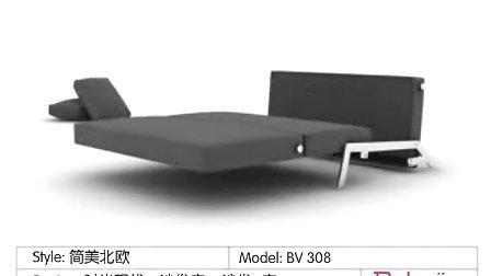 308双人折叠沙发床 单人宜家懒人沙发 简约现代多功能沙发床