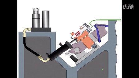 Pivoting piercing unit-kaller