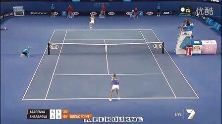 2012澳大利亚网球公开赛女单决赛 莎拉波娃VS阿扎伦卡 (自制HL)