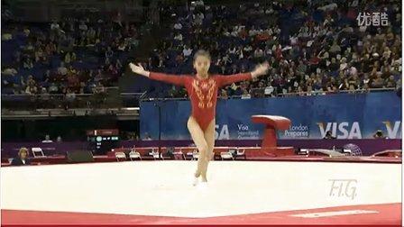 眭禄2012年伦敦奥运会体操测试赛fx决赛