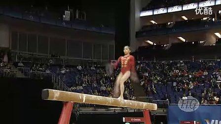 姚金男2012年伦敦奥运会体操场馆测试赛BB决赛