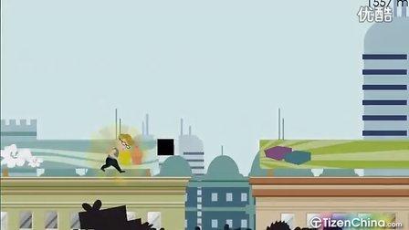 诺基亚N9游戏:城市奔跑小胖哥-泰泽论坛bbs.TizenChina.com