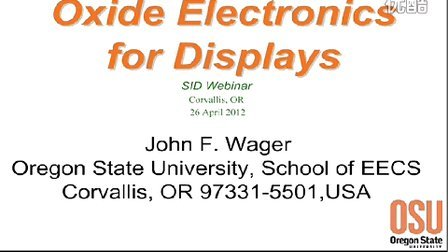 SID 20120426 John Wager, Oxide Electronics for Displays