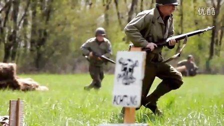 美国军迷重演二战西线盟军和德军的遭遇战