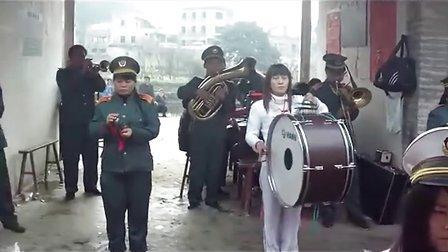 潘田流坑一位79岁老人葬礼仪式