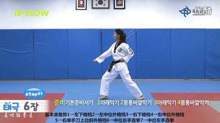 韩国庆熙大学跆拳道品势教学-太极六章-中字