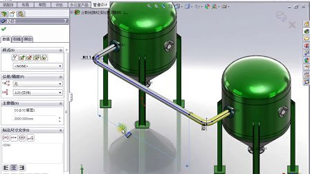 2-2-10 分割线路和添加管道配件 SolidWorks视频教程