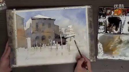 簡忠威畫室水彩示範『威尼斯風景』watercolor