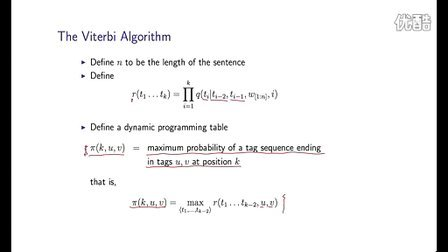 16 - 6 - The Viterbi Algorithm for Log-linear Taggers (9-37)