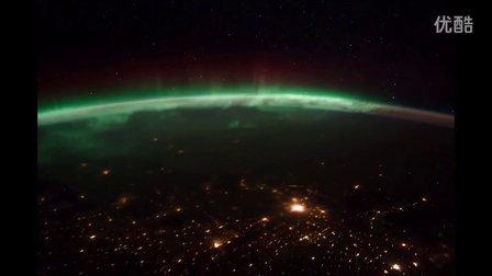 太空看月落、看日出、看地球的极光【合集】