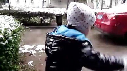 欧阳哲瀚玩雪