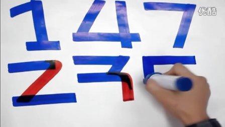 台湾创意手文化手绘pop数字写法