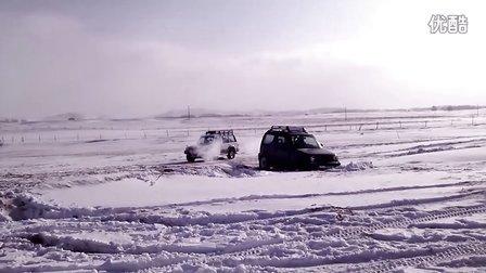 2012-1-2-老周吉姆尼雪坑自救-元旦内蒙玩雪