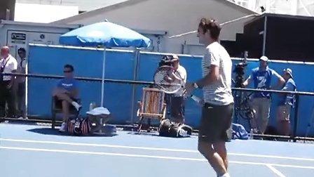 2012澳网 费德勒训练视频[2012-1-19]