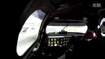 奥迪R18混合动力LMP1组勒芒赛车测试(车载视角)