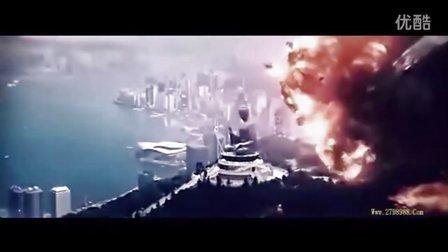 电影-【超级战舰】国内被删片段 香港被炸毁