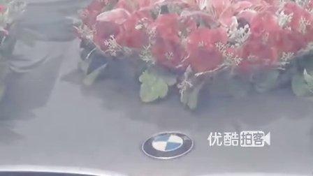【拍客】农村惊现宝马婚车引围观