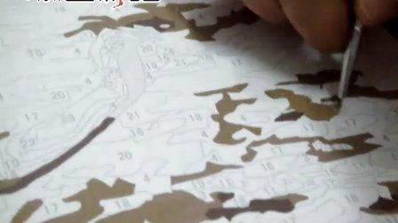 添色彩绘广告视频数字油画绘画过程
