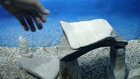 青龙石 千层石造景 水族箱造景 三湖鱼缸 龟缸造景