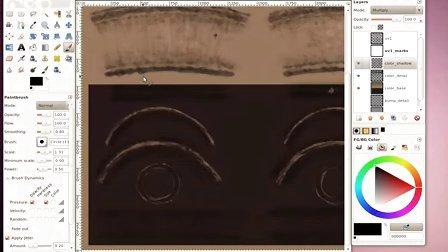 Blender_基礎教程_古董望遠鏡材質製作_5_色彩貼圖的繪製下篇