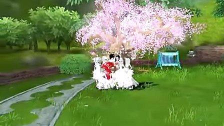 热舞派对游戏视频。姗姗婚礼视频