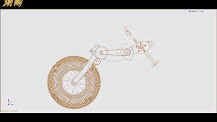 上海工程技术大学-材料工程学院-烟雨-便携式折叠自行车-传动系统