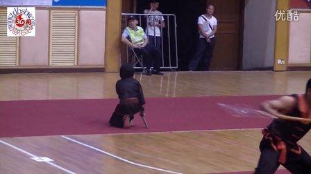 象角超艺馆女学员参加武术项目锦标赛棍术表演