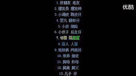 粤语学习日常用语