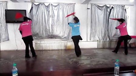 北票市人民银行健身队(2013)联欢会响扇《精忠报国》