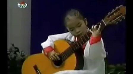 朝鲜幼儿园小女孩的惊人吉他表演