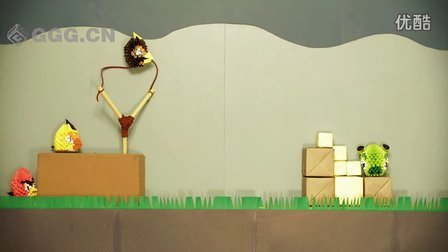 ★愤怒的小鸟★《3D剪纸动画版》