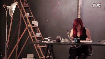 【失逝】水彩插画教学视频-下午的工作室