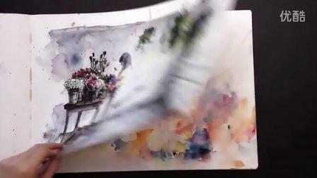 【失逝】水彩插画教学视频-agnescecile(水彩绘本)