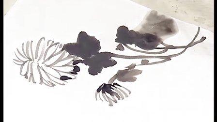 梅墨生花卉—菊及四君子欣赏7