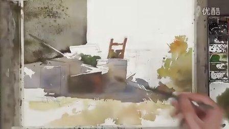 簡忠威水彩畫示範『平凡的尊嚴』watercolor