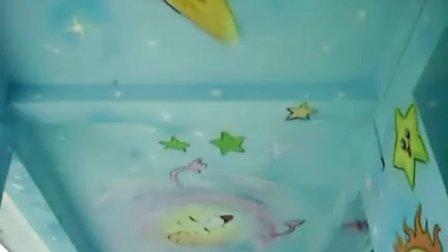 云南省腾冲市某幼儿园墙壁装饰卡通墙壁画图片mdash;宇宙星空100-56