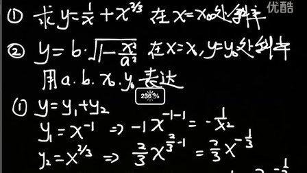 物理竞赛公开课02001切线的斜率第4节