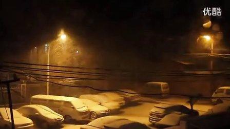 北京一夜大雪 醒来之后一片白