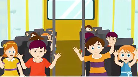 Wheels On The Bus with Hindi Subtitles - Nursery Rhymes & So