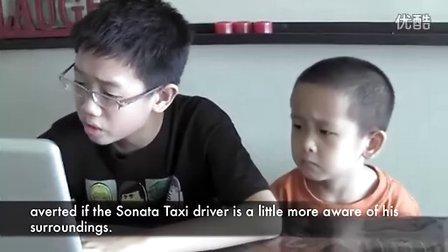 小孩谈论新加坡法拉利撞车事件