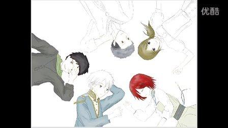 赤发白雪姬图 绘画画图过程 (OpenCanvas)