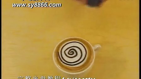 咖啡拉花教程,简单咖啡拉花