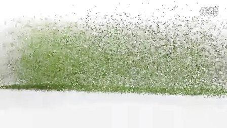 粒子从地上汇聚起来变成LOGO