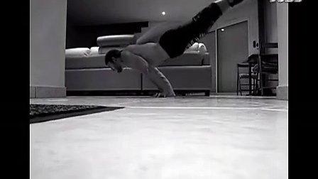 极限健身(俄式俯卧撑和人体旗帜)
